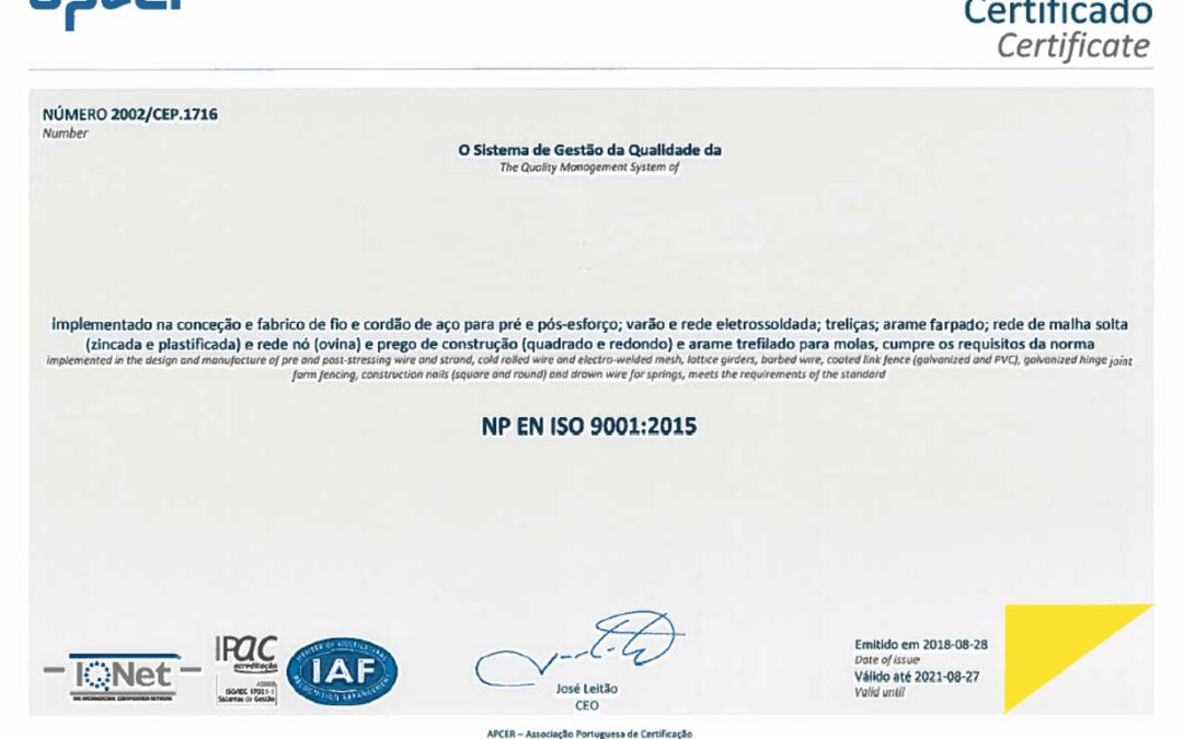 NP EN ISO 9001:2015